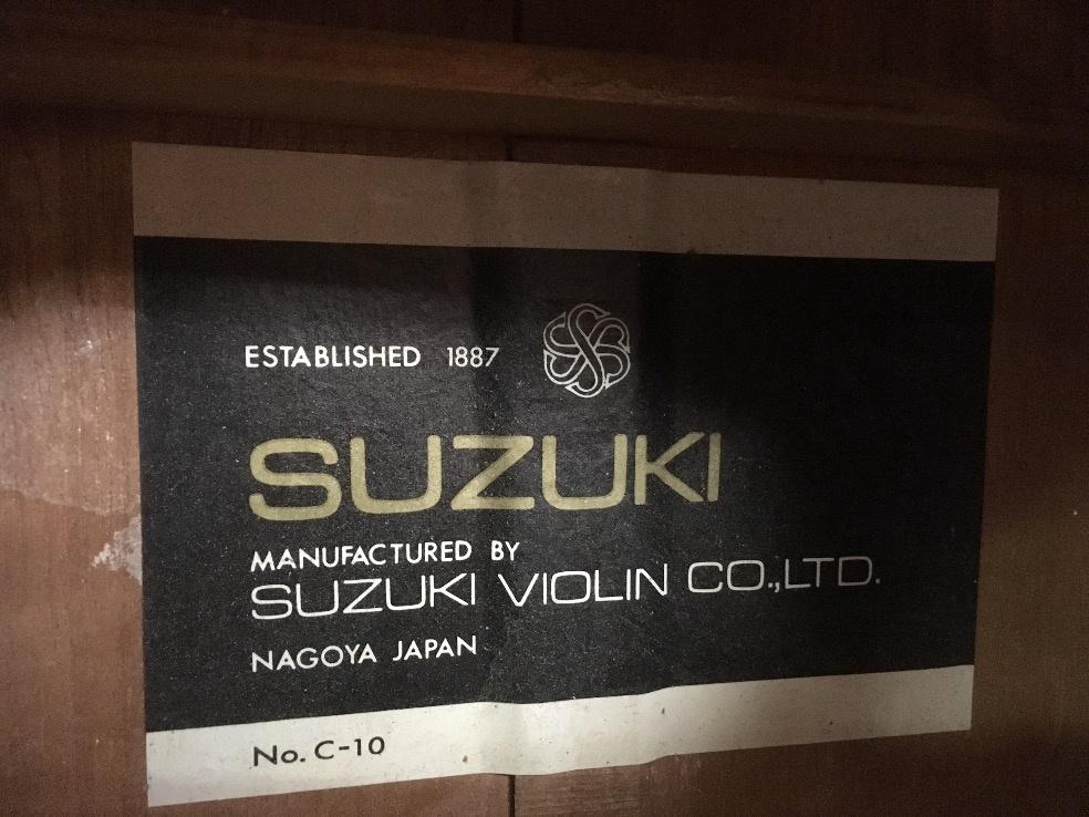 SUZUKI C-10 ネック反り クラシックギター ジャンク u41664_画像6