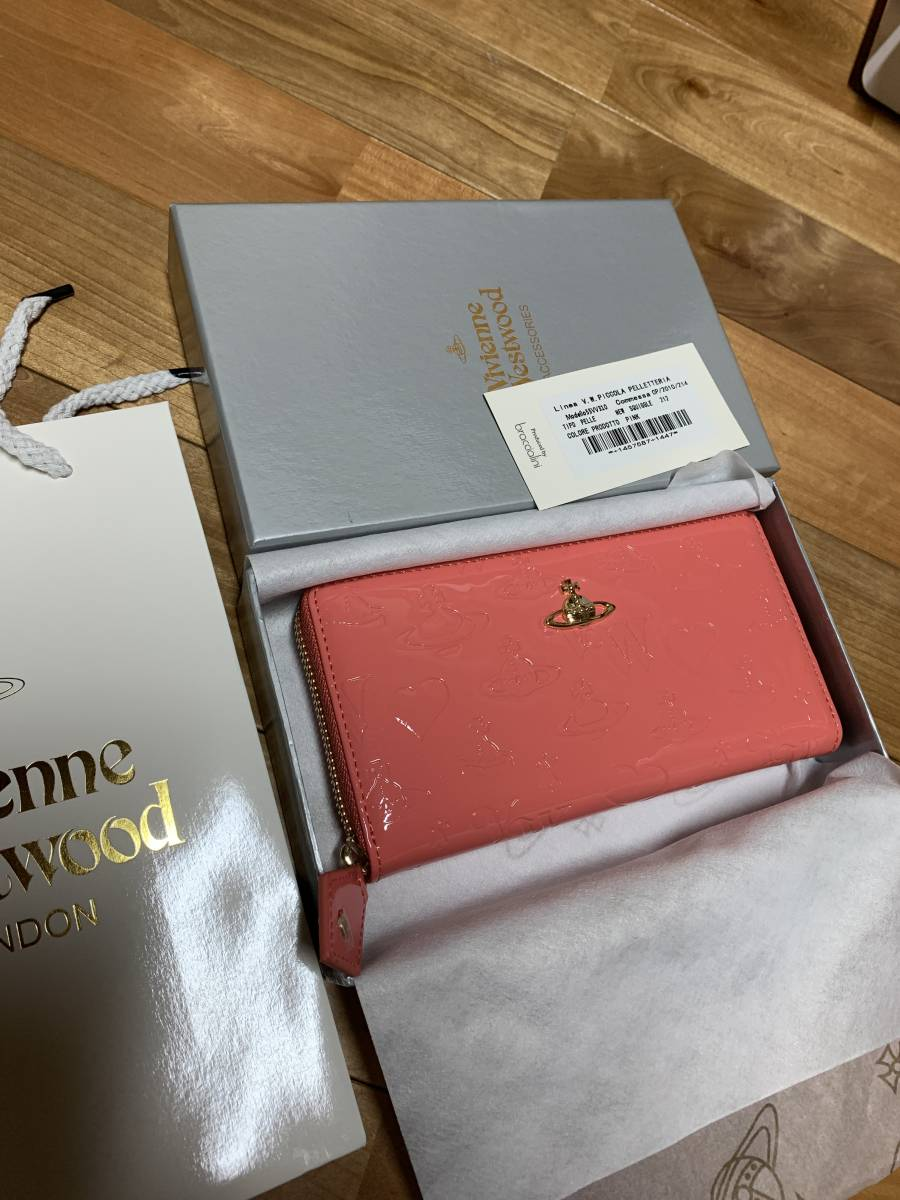 vivienne Westwood ヴィヴィアン ピンク 財布 長財布 新品 プレゼント エナメル レア クリスマス