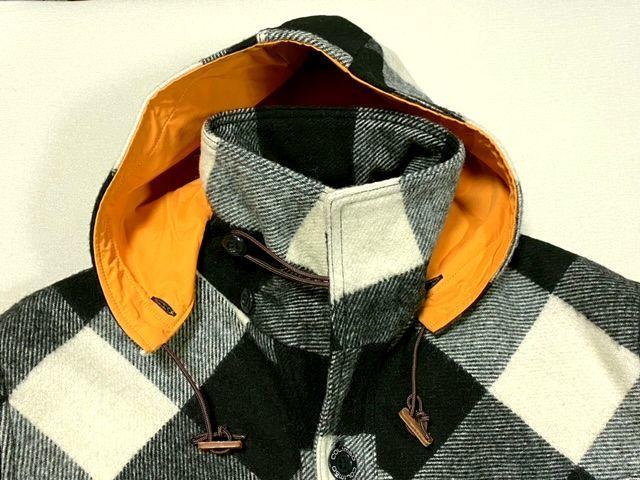 ★COLIMBO★コリンボ 初期 FORESTER COAT フォレスターコート ホワイト・ブラック sizeL/チェック_画像3