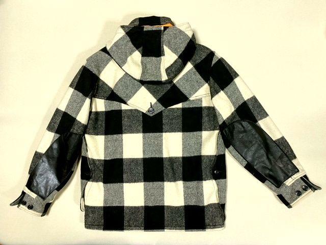 ★COLIMBO★コリンボ 初期 FORESTER COAT フォレスターコート ホワイト・ブラック sizeL/チェック_画像6