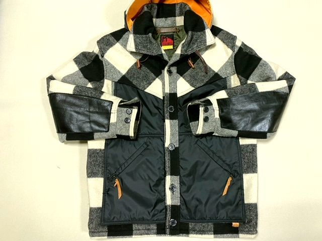 ★COLIMBO★コリンボ 初期 FORESTER COAT フォレスターコート ホワイト・ブラック sizeL/チェック_画像2