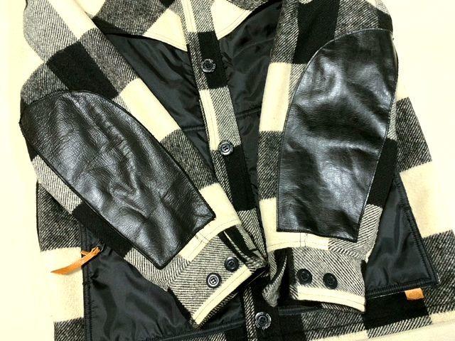 ★COLIMBO★コリンボ 初期 FORESTER COAT フォレスターコート ホワイト・ブラック sizeL/チェック_画像5