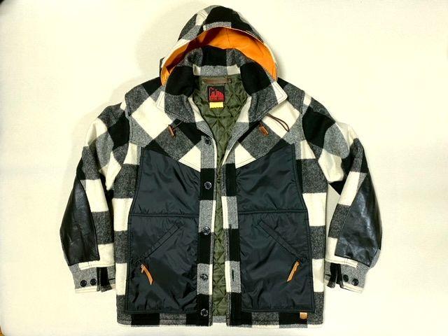 ★COLIMBO★コリンボ 初期 FORESTER COAT フォレスターコート ホワイト・ブラック sizeL/チェック_画像1