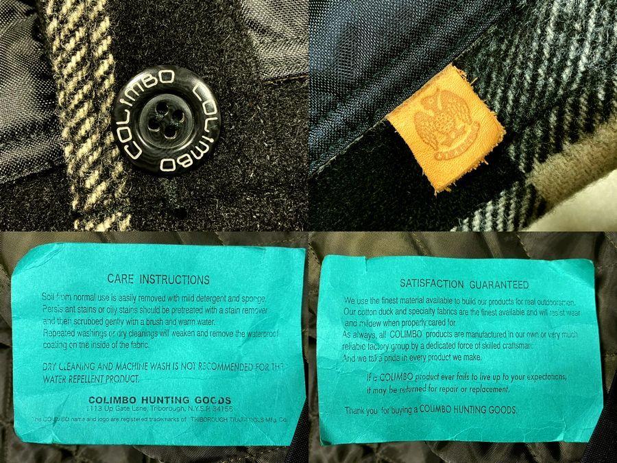 ★COLIMBO★コリンボ 初期 FORESTER COAT フォレスターコート ホワイト・ブラック sizeL/チェック_画像10