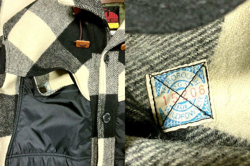 ★COLIMBO★コリンボ 初期 FORESTER COAT フォレスターコート ホワイト・ブラック sizeL/チェック_画像9