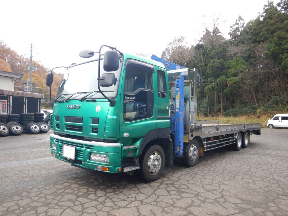 「【CH15902】H22年 いすゞ ギガ アイバワークス タダノ4段セルフクレーンナンバー付 実走22.6万km台 ラジコン 積載量13200kg」の画像1