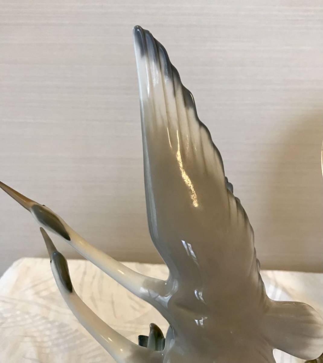 〈送料込〉〈美品〉リヤドロ ナオ 28cm NAO by Lladro バード フィギュリン DAISA 2羽の鳥 サギ 鷺 鶴 bird とり フィギュア 置物_画像7