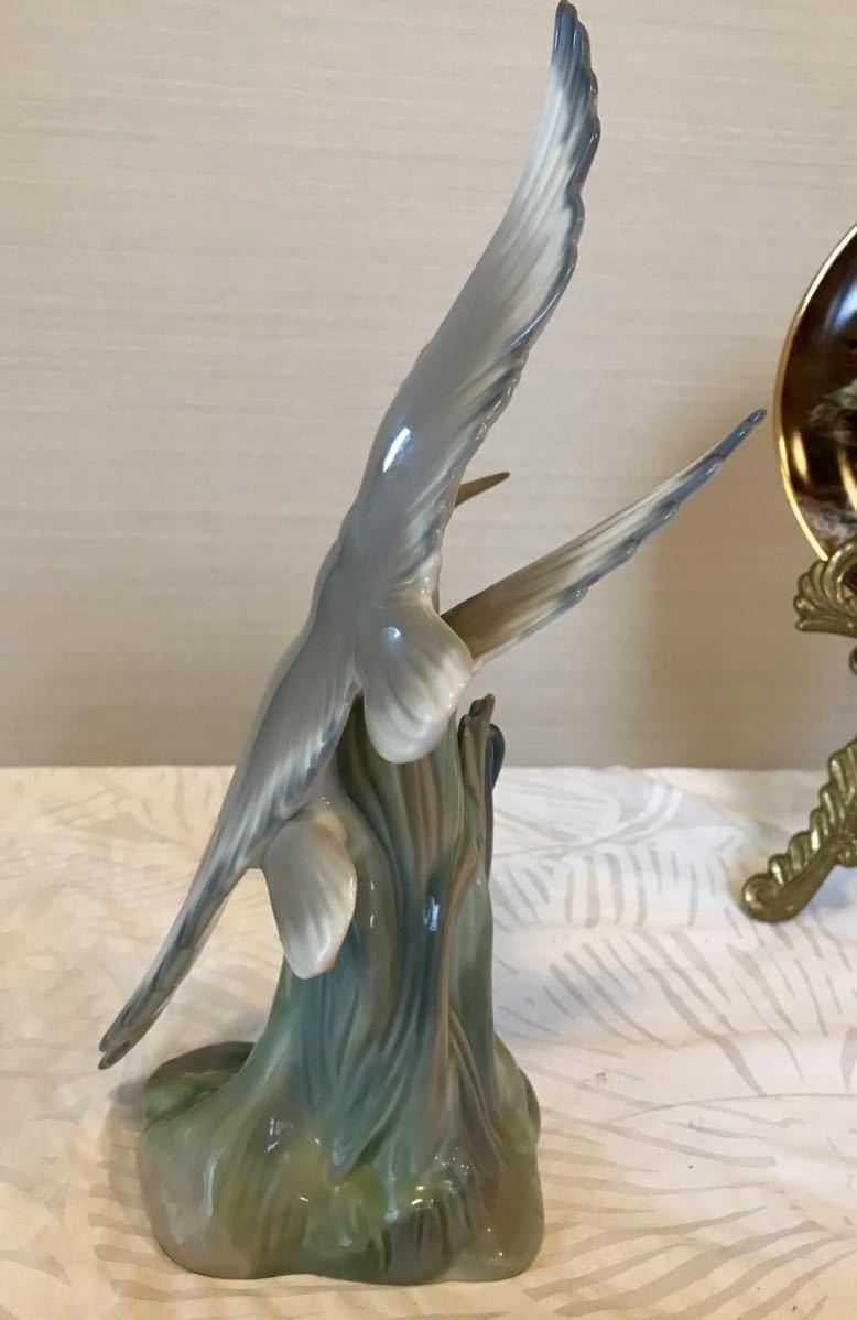 〈送料込〉〈美品〉リヤドロ ナオ 28cm NAO by Lladro バード フィギュリン DAISA 2羽の鳥 サギ 鷺 鶴 bird とり フィギュア 置物_画像5