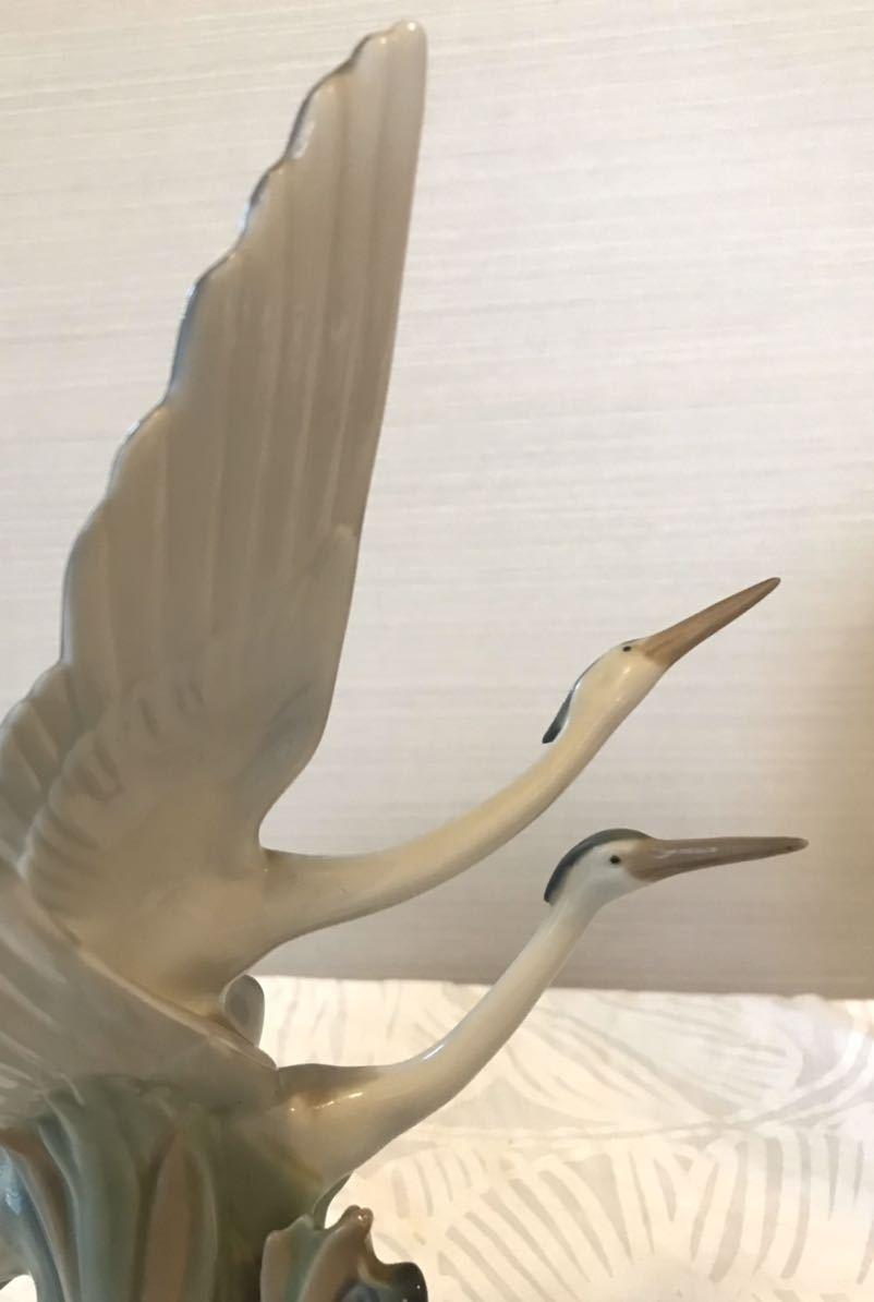 〈送料込〉〈美品〉リヤドロ ナオ 28cm NAO by Lladro バード フィギュリン DAISA 2羽の鳥 サギ 鷺 鶴 bird とり フィギュア 置物_画像4