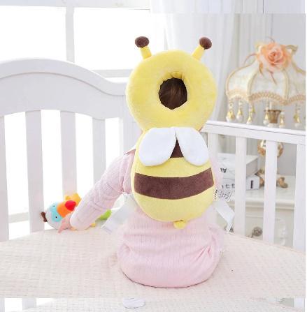 CC007:赤ちゃん 頭 保護パッド 幼児 ヘッドレスト 枕 かわいい 人気 クッション 子供 ガード 守る リュック ミツバチ 蜂 柔らかい_画像5