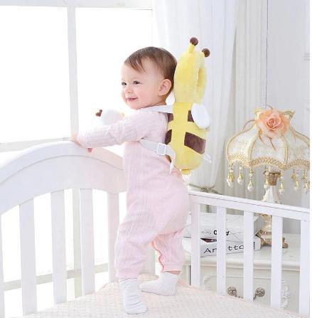 CC007:赤ちゃん 頭 保護パッド 幼児 ヘッドレスト 枕 かわいい 人気 クッション 子供 ガード 守る リュック ミツバチ 蜂 柔らかい_画像3
