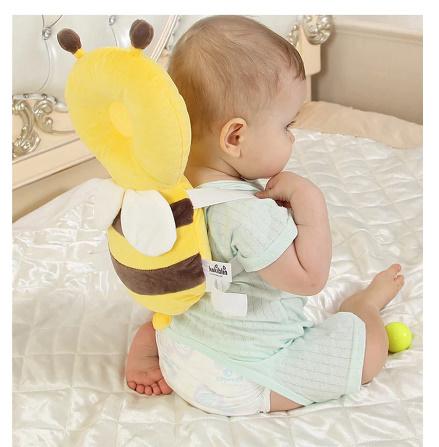 CC007:赤ちゃん 頭 保護パッド 幼児 ヘッドレスト 枕 かわいい 人気 クッション 子供 ガード 守る リュック ミツバチ 蜂 柔らかい_画像6