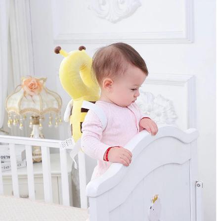 CC007:赤ちゃん 頭 保護パッド 幼児 ヘッドレスト 枕 かわいい 人気 クッション 子供 ガード 守る リュック ミツバチ 蜂 柔らかい_画像4