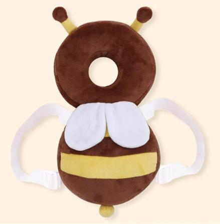 CC007:赤ちゃん 頭 保護パッド 幼児 ヘッドレスト 枕 かわいい 人気 クッション 子供 ガード 守る リュック ミツバチ 蜂 柔らかい_デザイン1