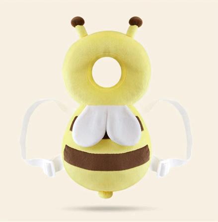 CC007:赤ちゃん 頭 保護パッド 幼児 ヘッドレスト 枕 かわいい 人気 クッション 子供 ガード 守る リュック ミツバチ 蜂 柔らかい_デザイン2