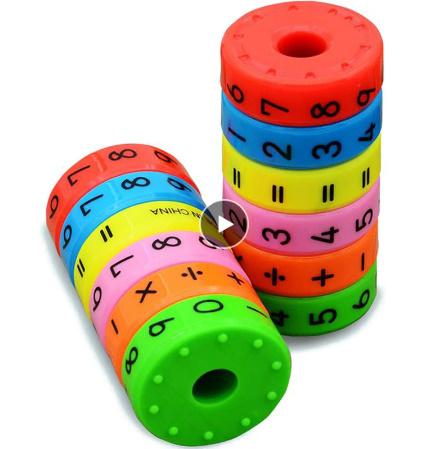 CC021:6ピース 磁気 モンテッソーリ キッズ 教育 プラスチック おもちゃ 子供 数学 番号 DIY 組み立て パズル 男の子 女の子 育脳 算数_画像1