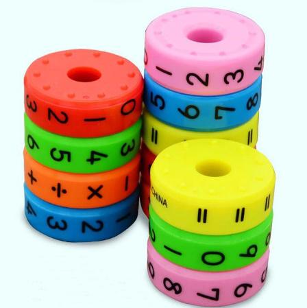 CC021:6ピース 磁気 モンテッソーリ キッズ 教育 プラスチック おもちゃ 子供 数学 番号 DIY 組み立て パズル 男の子 女の子 育脳 算数_画像2