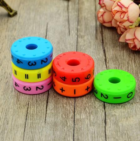CC021:6ピース 磁気 モンテッソーリ キッズ 教育 プラスチック おもちゃ 子供 数学 番号 DIY 組み立て パズル 男の子 女の子 育脳 算数_画像6