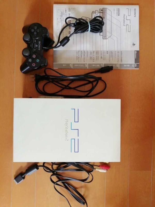 美品 SONY すぐ遊べる PS2(SCPH-55000GT) PlayStation2 白 ホワイト メモリーカード.説明書付 ホコリフィルター 動作確認済 ドラゴンボール_画像1