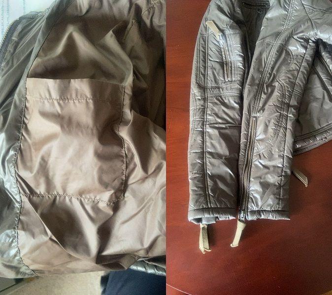 291295=homme ニーキューイチニーキューゴーオム ダウンジャケット サイズ Ⅱ M サイズ 相当 PAZZO パッゾ カラー 色 ブラウン こげ茶色_画像8