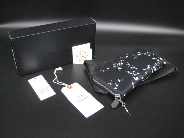 【送料込】アクネオ(ACUNEO)「レザーラウンドファスナー財布」未使用品(定価14300円相当品)_現物です