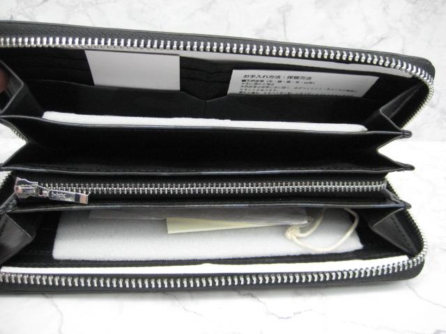 【送料込】アクネオ(ACUNEO)「レザーラウンドファスナー財布」未使用品(定価14300円相当品)_画像5