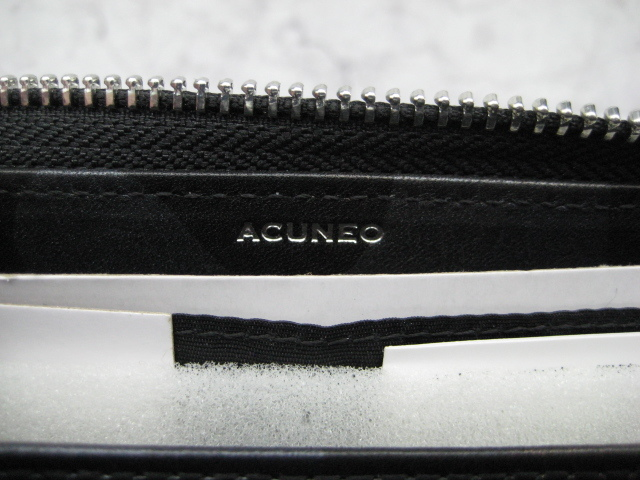 【送料込】アクネオ(ACUNEO)「レザーラウンドファスナー財布」未使用品(定価14300円相当品)_画像6