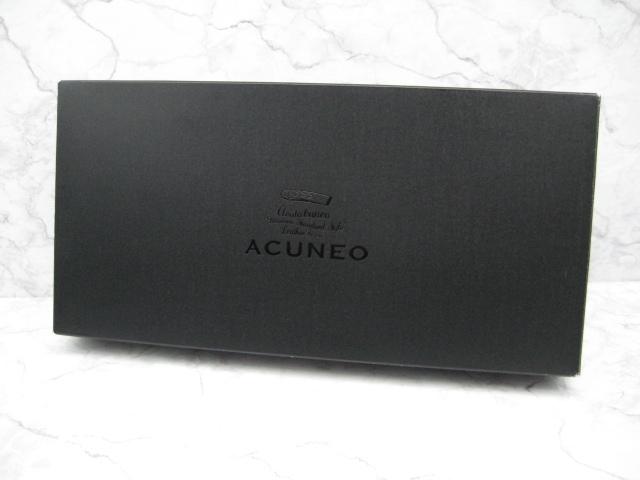 【送料込】アクネオ(ACUNEO)「レザーラウンドファスナー財布」未使用品(定価14300円相当品)_画像8