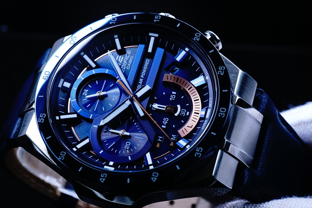 1円×3本 電池交換不要 新品 CASIO カシオ エディフィス 腕時計 メンズ クロノグラフ ア