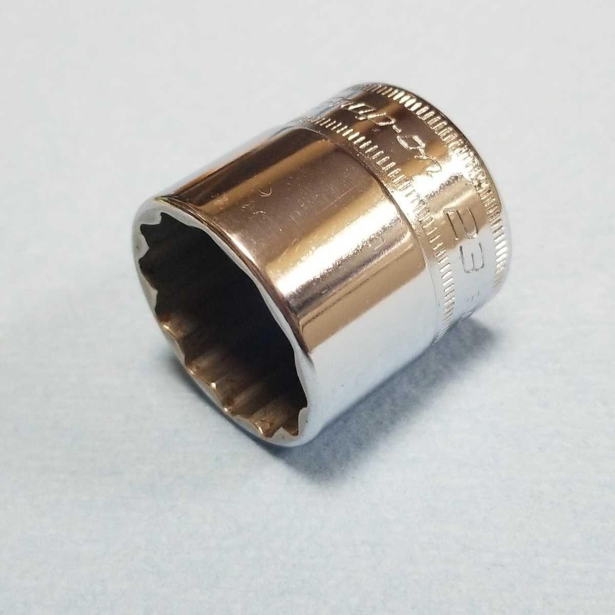 未使用 23mm 3/8 シャロー スナップオン FM23 (12角) 新品 保管品 SNAPON SNAP-ON シャローソケット ソケット 送料無料 Snap-on _画像6