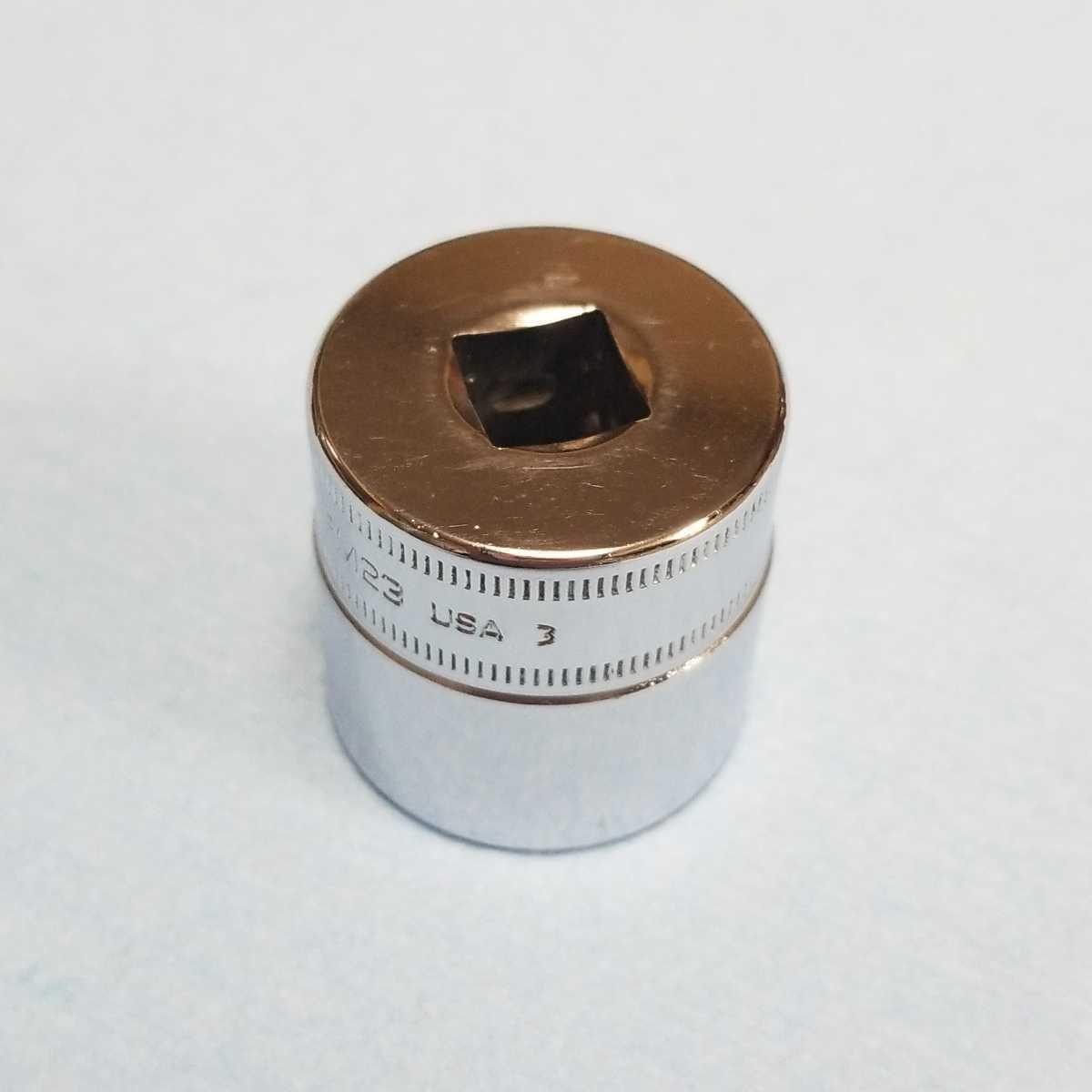 未使用 23mm 3/8 シャロー スナップオン FM23 (12角) 新品 保管品 SNAPON SNAP-ON シャローソケット ソケット 送料無料 Snap-on _画像2