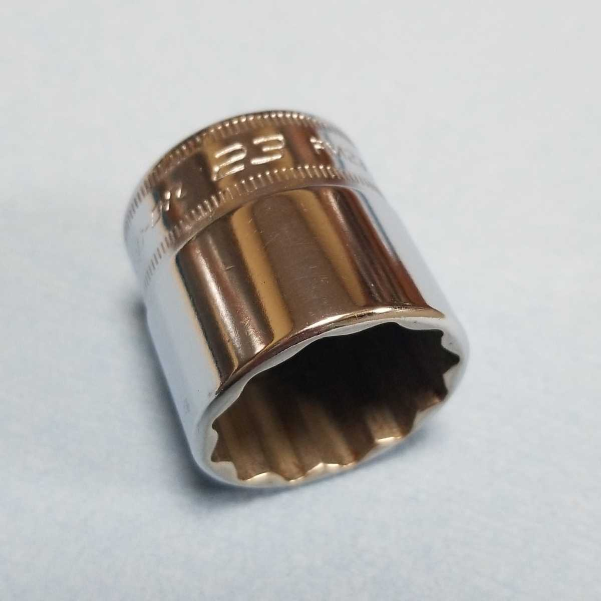 未使用 23mm 3/8 シャロー スナップオン FM23 (12角) 新品 保管品 SNAPON SNAP-ON シャローソケット ソケット 送料無料 Snap-on _画像1