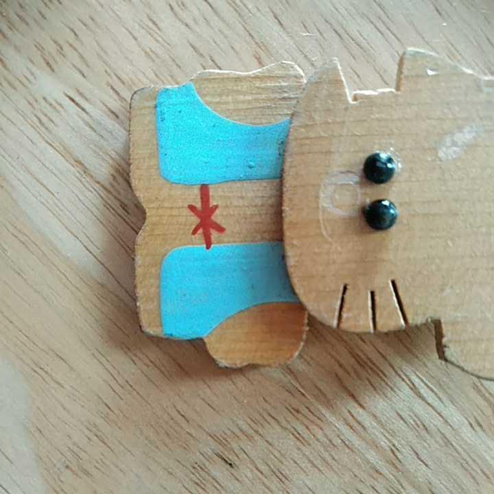 キーホルダー キーリング かわいい 癒し 鼠 ネズミ アクセサリー インテリア 木製 コレクション 動物 雑貨 茶色 ファション ハンドメイド