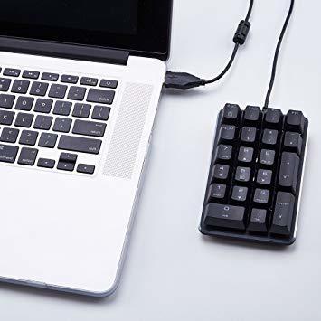 テンキーボード メカニカル式テンキーパッド 赤軸 21キー USB接続 ブラック Windows Mac 対応_画像7