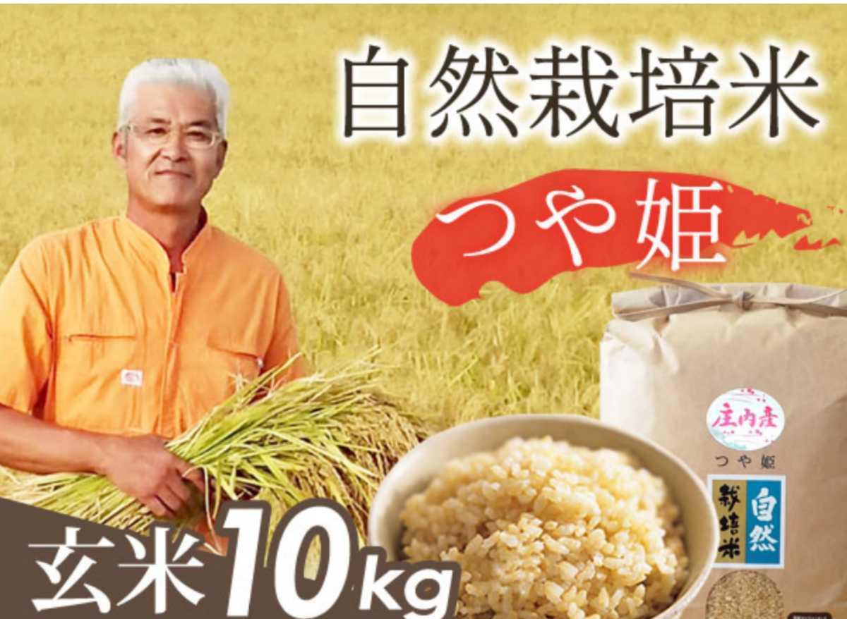 自然栽培 お米の旨みたっぷり 氷温熟成米 つや姫 令和2年産 山形県産 庄内米 玄米 10kg(5kg×2袋) 送料無料_画像2
