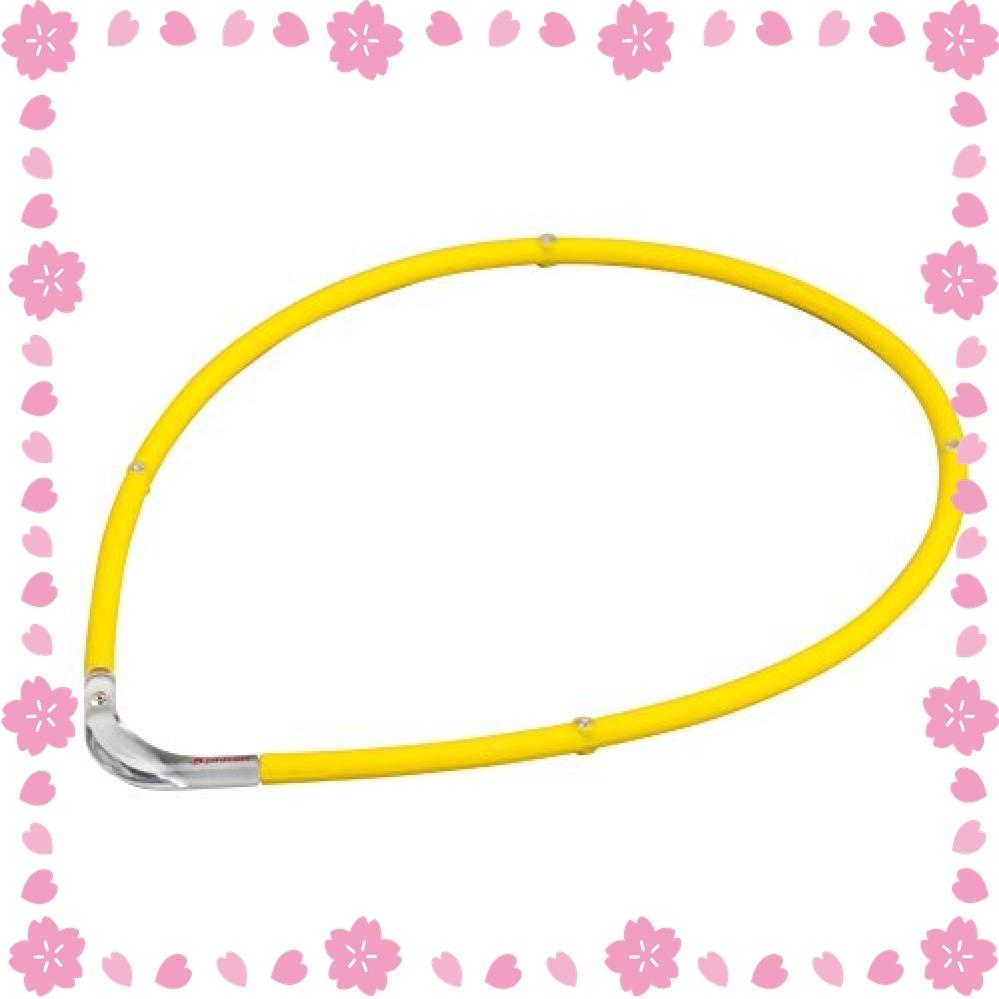 最終値下げ!色イエローXクリア サイズ45cm ファイテン(phiten) ネックレス RAKUWA 磁気チタンネックレスS-_画像1