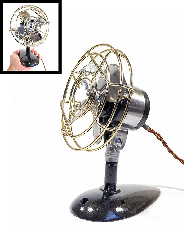 【実働】フルレストア 1940's アンティーク ミニ 扇風機/ビンテージ/デスク/家具/テーブル/モダン/バウハウス/照明/ランプ/gras/o.c.white_画像1