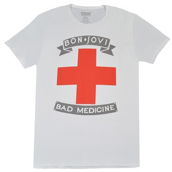 BON JOVI ボンジョヴィ Bad Medicine Tシャツ Mサイズ 正規品_画像1