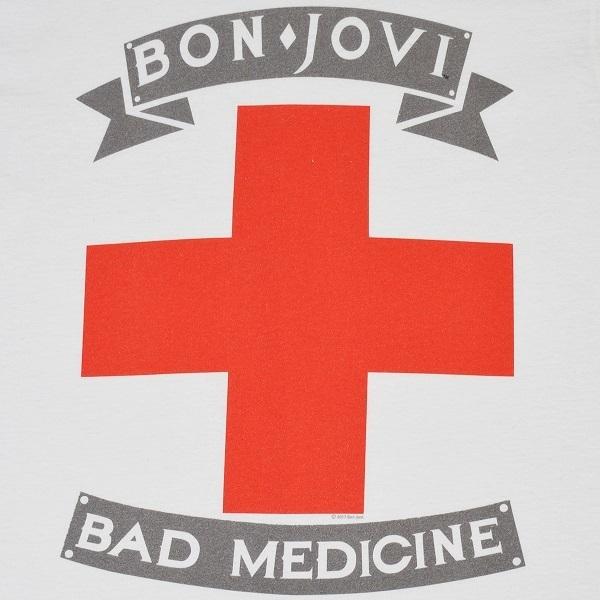 BON JOVI ボンジョヴィ Bad Medicine Tシャツ Mサイズ 正規品_画像2