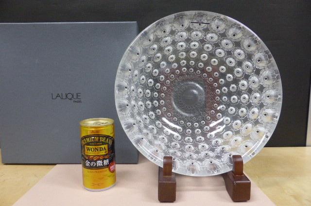 ★共箱・未使用保管品★ ラリック  クリスタルガラス LALIQUE Crystal  ヌムール ボウル 大皿 大鉢 NEMOURS 直径25cm_画像1