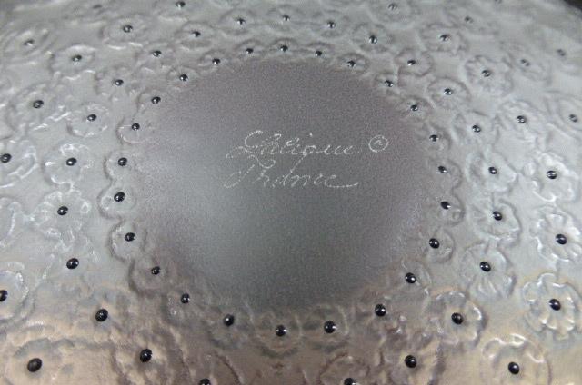 ★共箱・未使用保管品★ ラリック  クリスタルガラス LALIQUE Crystal  ヌムール ボウル 大皿 大鉢 NEMOURS 直径25cm_画像8