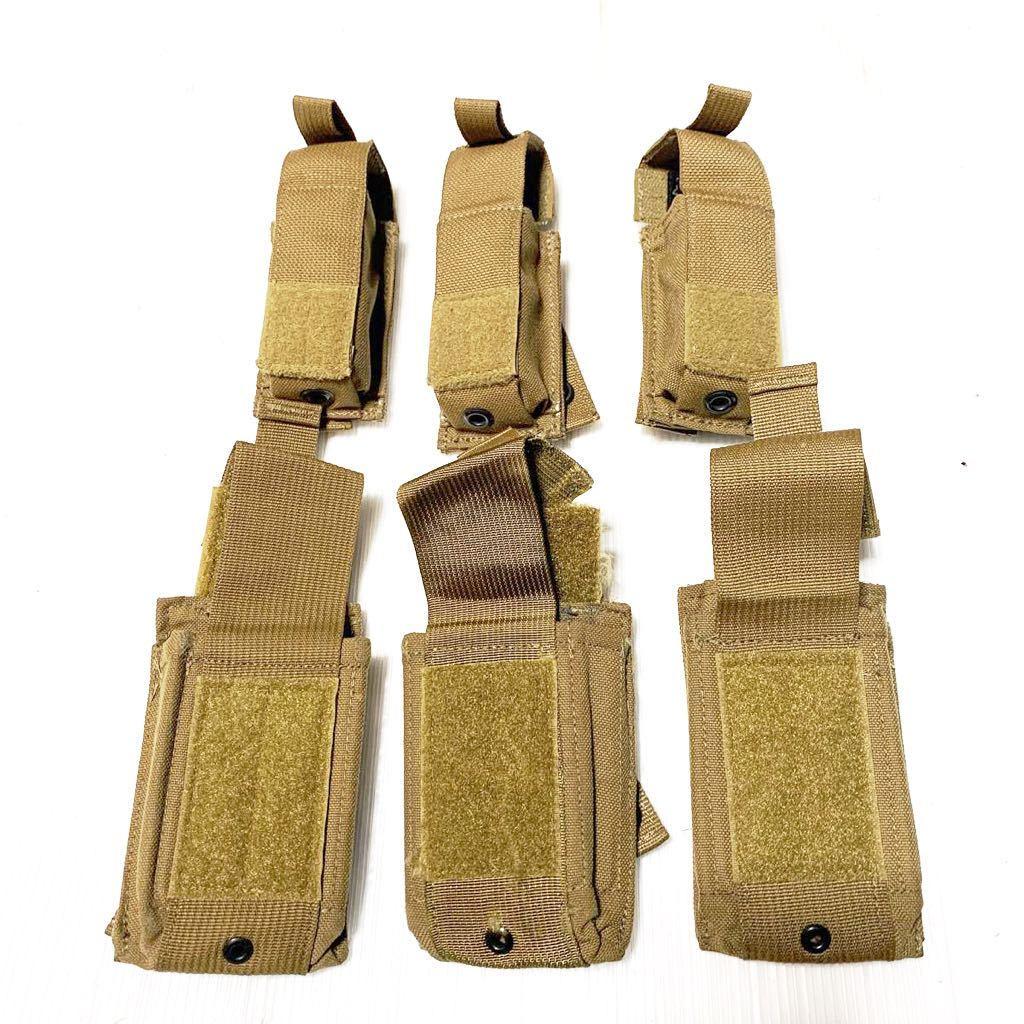米軍放出品 実物 USMC 米海兵隊 リーコン RECON EAGLE イーグル製 M9 9mm & M4 M16 マガジンポーチ /FSBE FILBE SOF コヨーテ E_画像1
