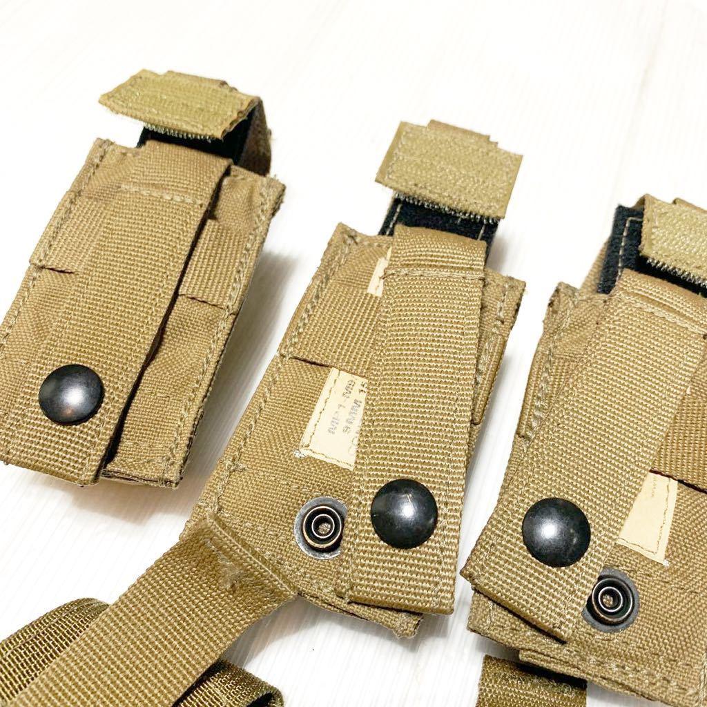 米軍放出品 実物 USMC 米海兵隊 リーコン RECON EAGLE イーグル製 M9 9mm & M4 M16 マガジンポーチ /FSBE FILBE SOF コヨーテ E_画像2