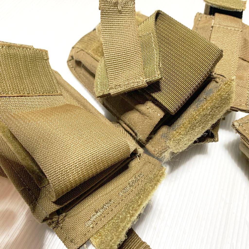 米軍放出品 実物 USMC 米海兵隊 リーコン RECON EAGLE イーグル製 M9 9mm & M4 M16 マガジンポーチ /FSBE FILBE SOF コヨーテ E_画像6