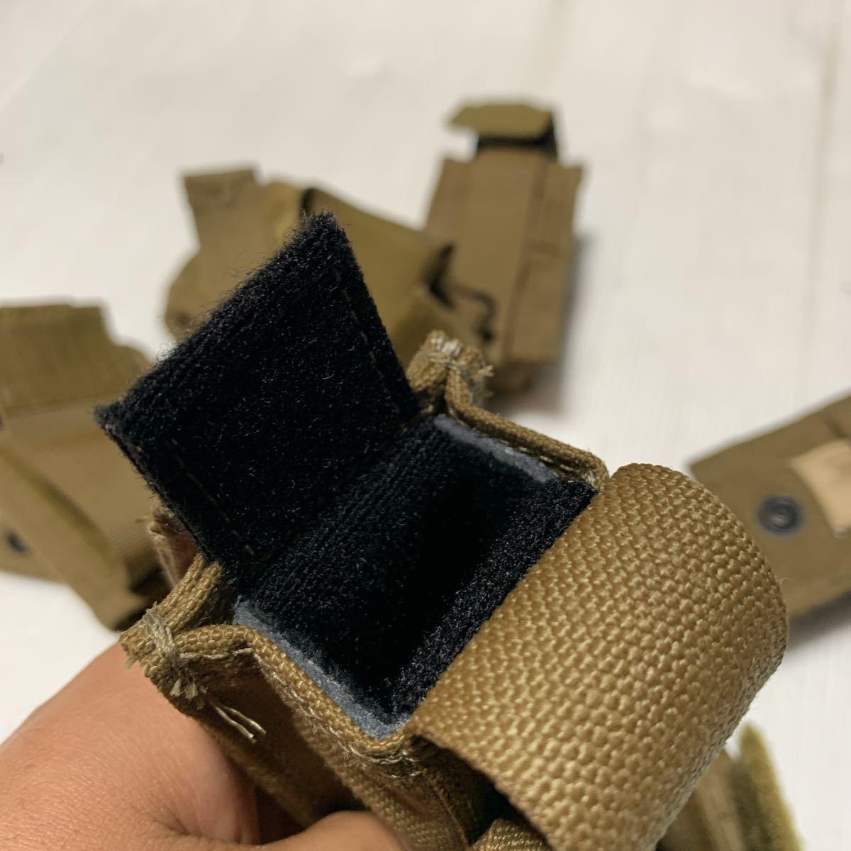 米軍放出品 実物 USMC 米海兵隊 リーコン RECON EAGLE イーグル製 M9 9mm & M4 M16 マガジンポーチ /FSBE FILBE SOF コヨーテ E_画像7