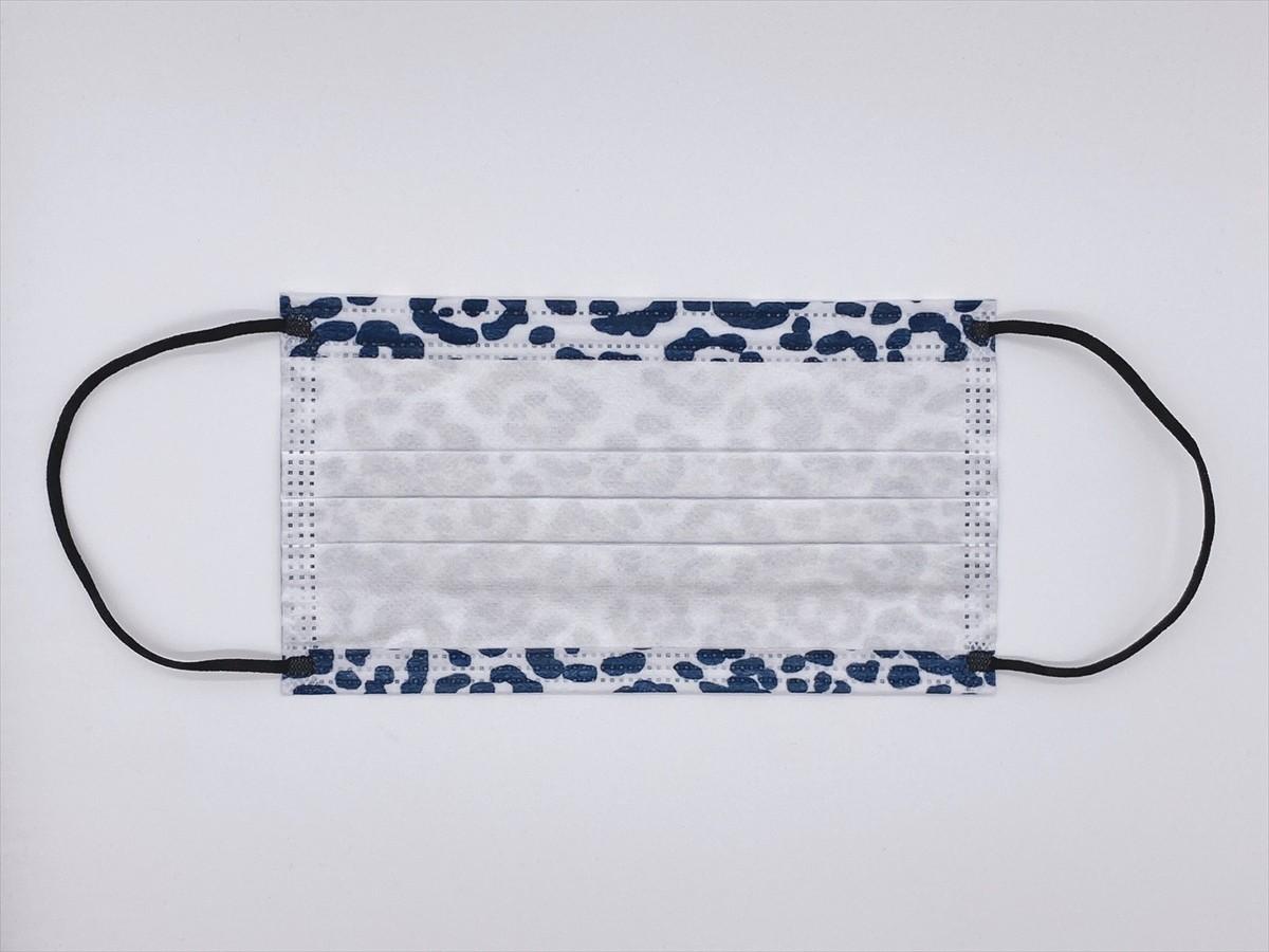 不織布マスク 50枚 普通サイズ 3層構造 使い捨て 白黒 箱 43msk11_画像3