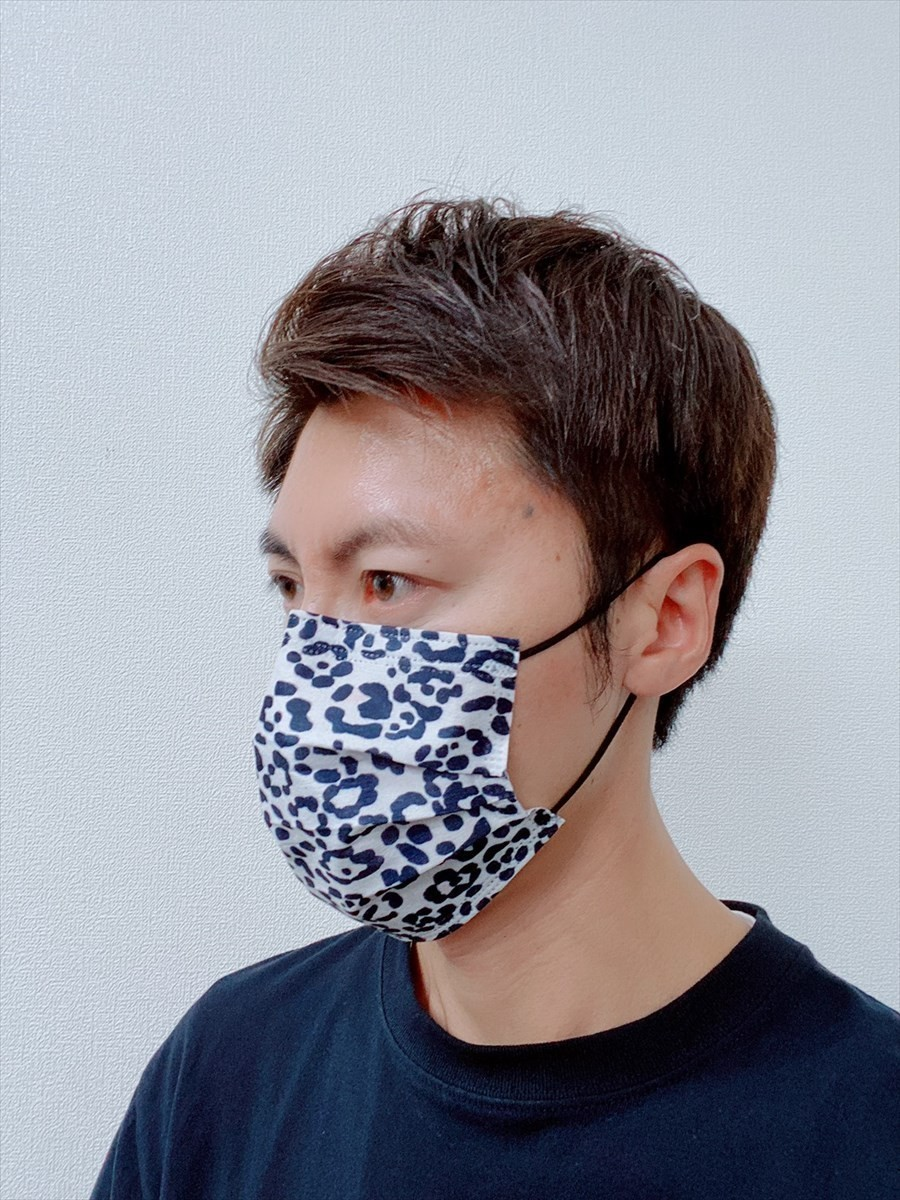 不織布マスク 50枚 普通サイズ 3層構造 使い捨て 白黒 箱 43msk11_画像6