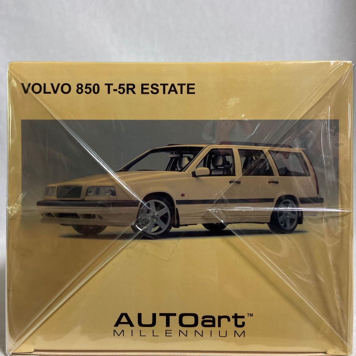 AUTOart 1/18 VOLVO 850 T-5R ESTATE 1995 オートアート ボルボ エステート クリームイエロー Aa 絶版 ミニカー 旧車 ワゴン モデルカー