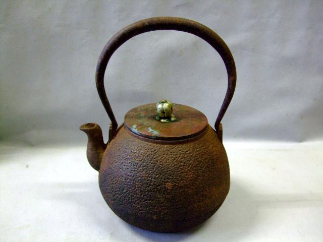 時代物 アンティーク 鉄瓶 祥雲堂造 銀摘 茶器