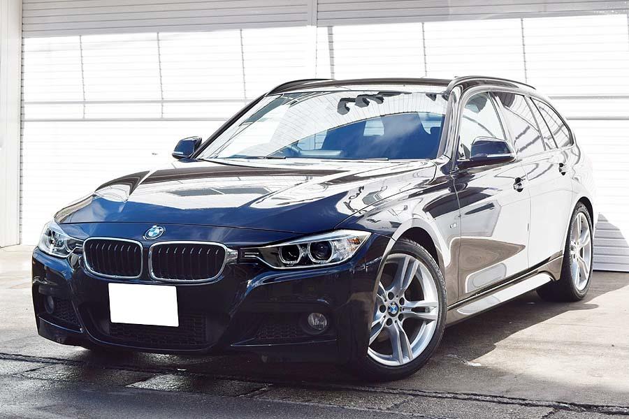 「車検R4年7月 毎日高速使用の1台 正規ディーラー車 ディーラー記録多数有 BMW320dツーリング ブルーパフォーマンス Mスポーツ ブラック」の画像1